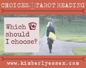 Which should I choose? Choices Tarot Reading (digital file: PDF, JPG - you print)