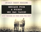 Spirit Tarot Reading | 4-Card Friend Reading | Mediumship | A message from a friend who has passed (digital file: PDF - you print)