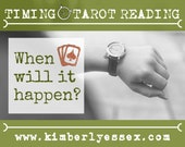 When will it happen? Timing Tarot Reading (digital file: PDF, JPG - you print)