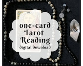 One-Card Custom Tarot Reading (customized digital file: PDF, JPG - you print)