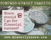 Where should I go to find financial success? Compass Tarot Reading (digital file: PDF, JPG - you print)