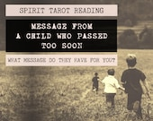 Spirit Tarot Reading | 4-Card Child Reading | Mediumship | A message from a child who has passed (digital file: PDF - you print)