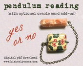 Yes or No Pendulum Reading (digital file: PDF, JPG - you print)