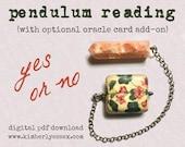Yes or No Pendulum Reading (digital file: PDF, JPG - you print)
