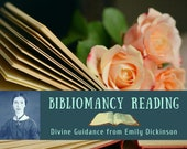 Bibliomancy Reading, Divine Guidance from Emily Dickinson (digital file: PDF - you print)