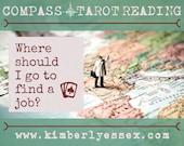 Where should I go to find a job? Compass Tarot Reading (digital file: PDF, JPG - you print)