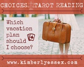 Which vacation plan should I choose? Choices Tarot Reading (digital file: PDF, JPG - you print)