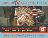 Custom YouTube Tarot Reading - As Seen on YouTube Tarot Reading (digital file: PDF, JPG - you print)