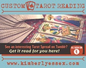 Custom Tarot Reading - Tumblr Tarot Reading - As Seen on Tumblr (digital file: PDF, JPG - you print)
