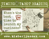 When's the best time to launch my business? Timing Tarot Reading (digital file: PDF, JPG - you print)