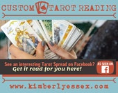 Custom Tarot Reading - Facebook Tarot Reading - As Seen on Facebook (digital file: PDF, JPG - you print)