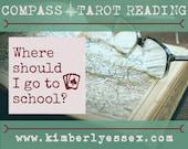 Where should I go to school? Compass Tarot Reading (digital file: PDF, JPG - you print)