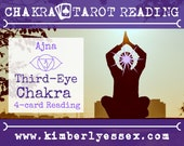 Sixth Chakra Tarot Reading | 4-Card Third-Eye Chakra Reading | Ajna Reading (digital file: PDF - you print)
