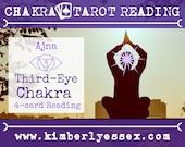 Sixth Chakra Tarot Reading | 4-Card Third-Eye Chakra Reading | Ajna Reading (digital file: PDF - you print)
