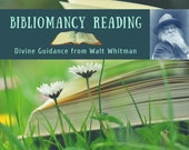 Bibliomancy Reading, Divine Guidance from Walt Whitman (digital file: PDF - you print)