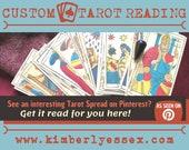 Custom Tarot Reading - Pinterest Tarot Reading - As Seen on Pinterest (digital file: PDF, JPG - you print)