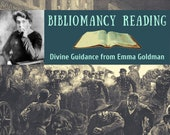 "Emma Goldman Bibliomancy Reading for Social Change, Divine Guidance from ""Living My Life"" (digital file: PDF - you print)"