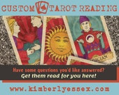 Custom Tarot Reading - Your Questions Answered with Tarot (digital file: PDF, JPG - you print)