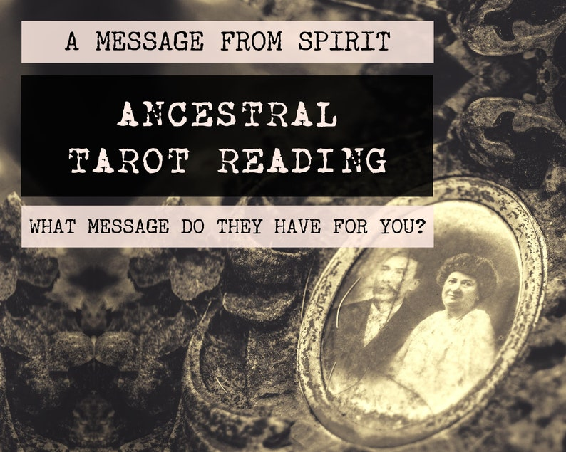 Ancestral Tarot Reading  4-Card Ancestor Reading  Mediumship image 0