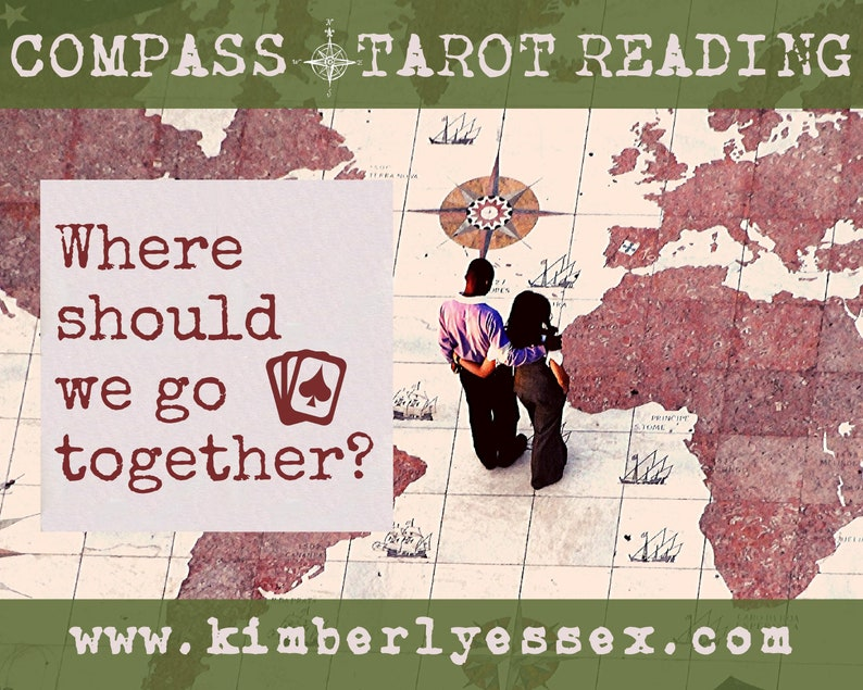 Where should we go together Compass Tarot Reading digital image 1