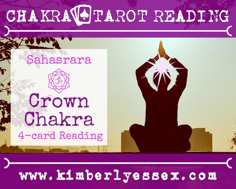 Seventh Chakra Tarot Reading  4-Card Crown Chakra Reading  image 1