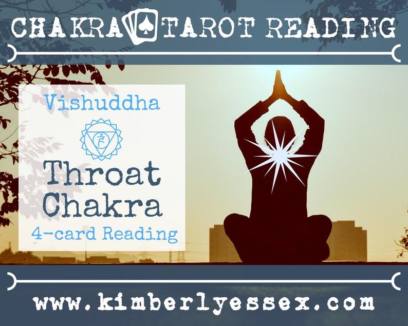 Fifth Chakra Tarot Reading  4-Card Throat Chakra Reading  image 1