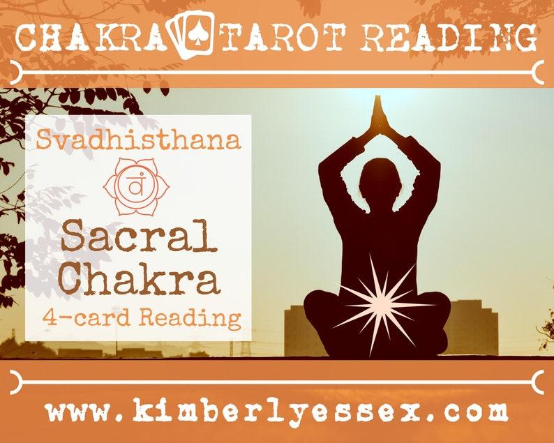 Second Chakra Tarot Reading  4-Card Sacral Chakra Reading  image 1