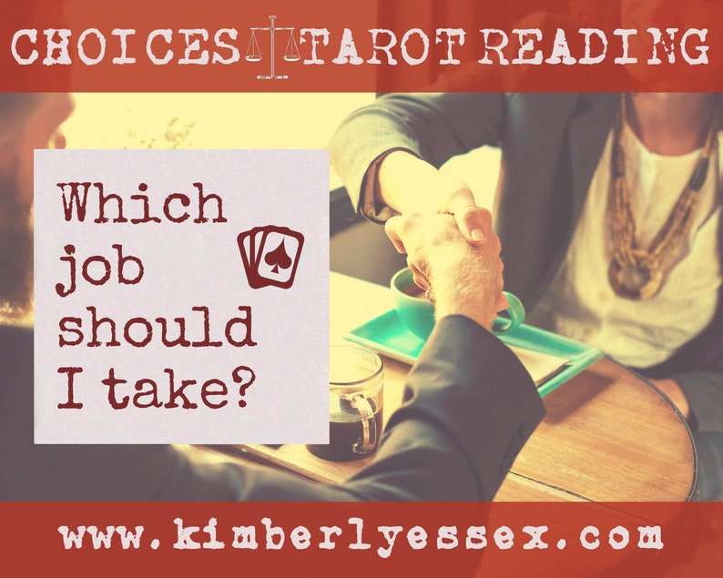 Which job should I take Choices Tarot Reading digital file: image 1