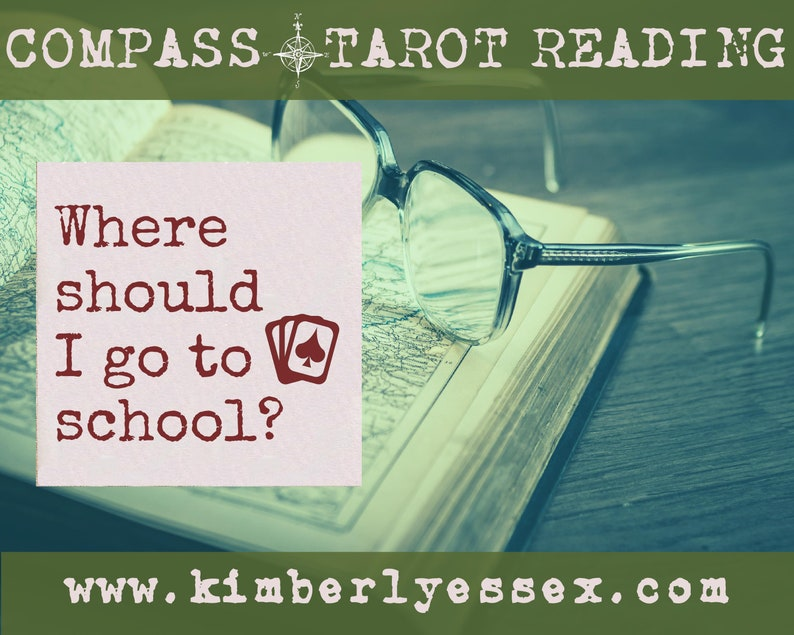 Where should I go to school Compass Tarot Reading digital image 0