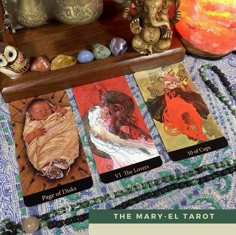 Birth Chart 12-card Tarot Reading (digital file: PDF, JPG - you print)
