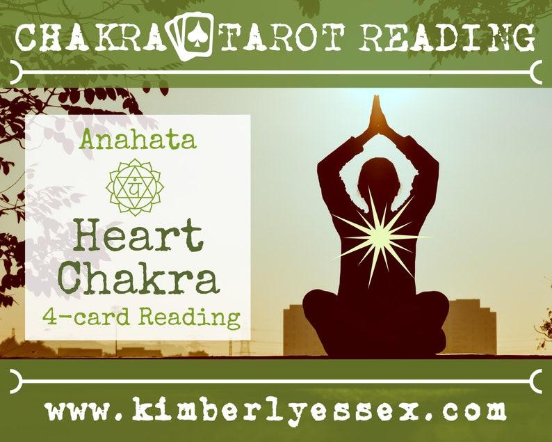 Fourth Chakra Tarot Reading  4-Card Heart Chakra Reading  image 0