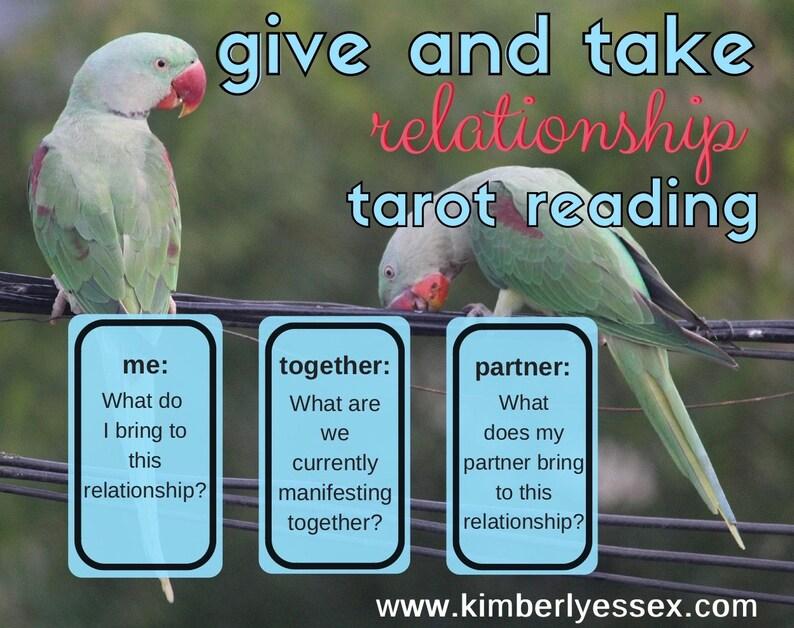 Give & Take 3-card Relationship Tarot Reading digital file: image 1