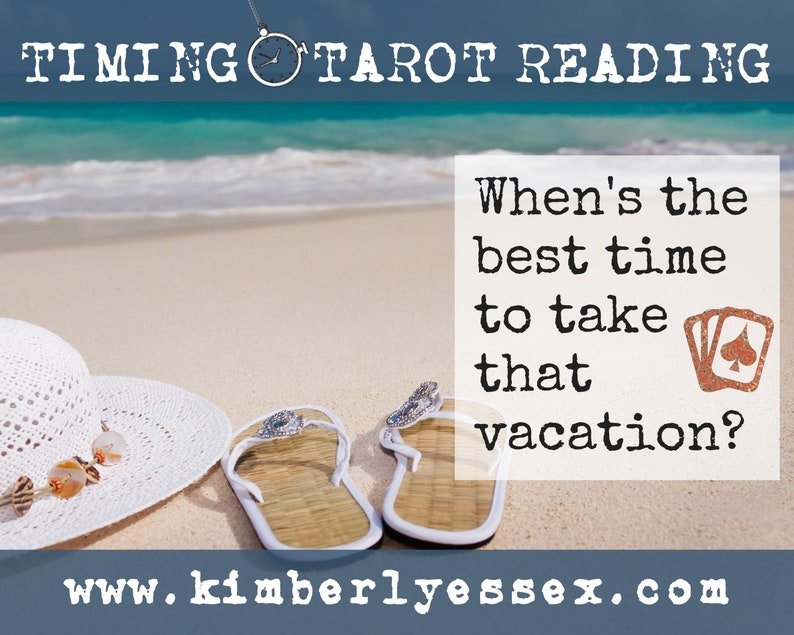 Time to take that vacation Timing Tarot Reading digital image 0