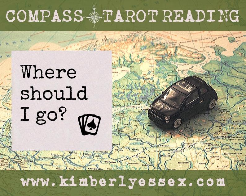 Where should I go Compass Tarot Reading digital file: PDF image 1