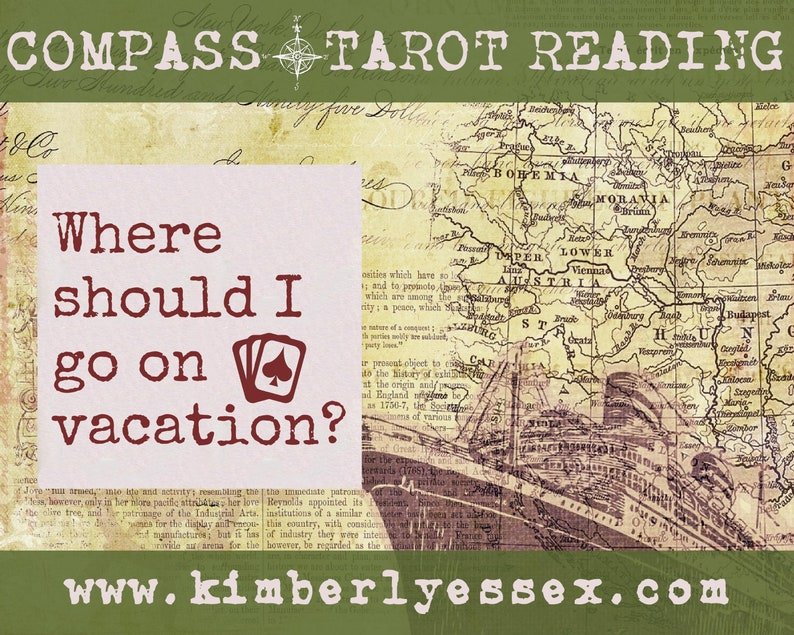 Where should I go on vacation Compass Tarot Reading digital image 0