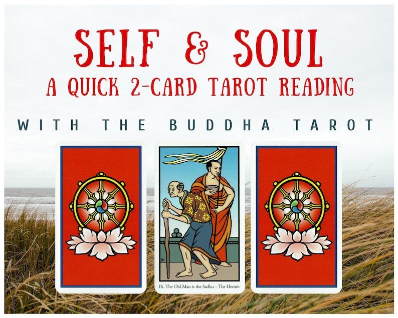 Self & Soul Quick 2-card Tarot Reading with the Buddha Tarot image 1