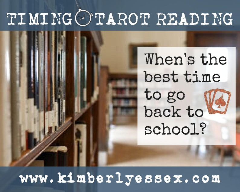 Time to go back to school Timing Tarot Reading digital file: image 0