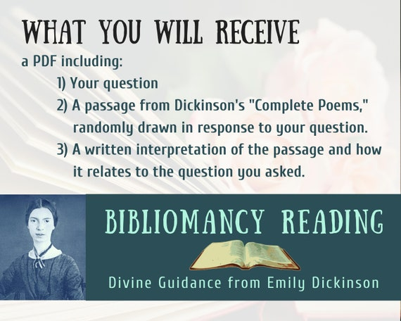 Bibliomancy Reading Divine Guidance From Emily Dickinson Digital File Pdf You Print