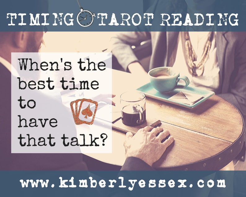 Time to have that talk Timing Tarot Reading digital file: image 0