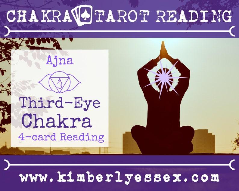 Sixth Chakra Tarot Reading  4-Card Third-Eye Chakra Reading  image 0