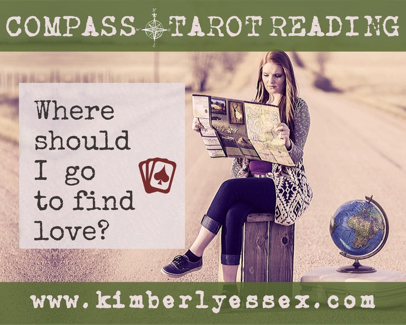 Where should I go to find love Compass Tarot Reading digital image 1