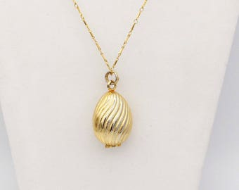 Avon Perfume Egg Locket
