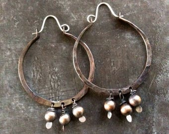 Bohemian forged hoops//Copper
