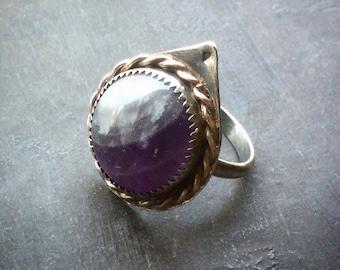 Amethyst Teardrop Ring