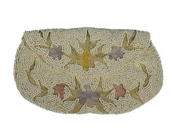 Vintage Beaded Clutch with Floral Embroidery