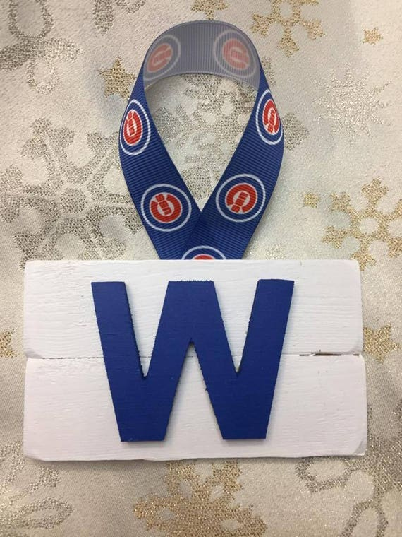 Cubs Christmas Ornaments.Chicago Cubs W Christmas Ornament Rustic Wood