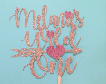 Wild one cake topper, personalized cake topper birthday, first birthday cake topper, glitter cake topper, gold cake topper, cake smash