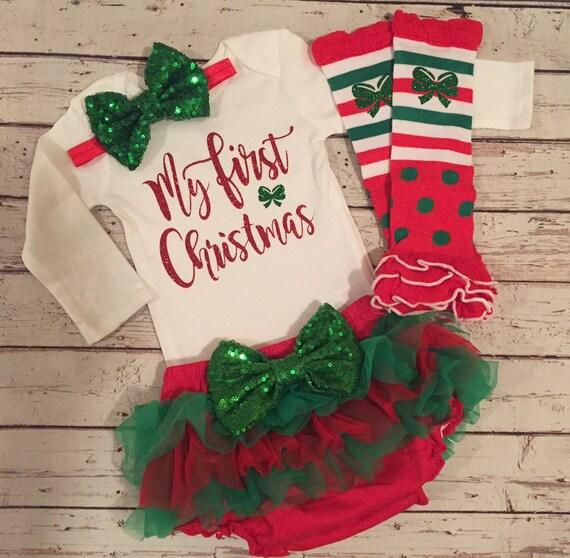Newborn Christmas Outfit Girl.My First Christmas Outfit Baby Girl First Christmas Outfit My First Christmas Outfit Girl Newborn Christmas Outfit Girl Baby Christmas