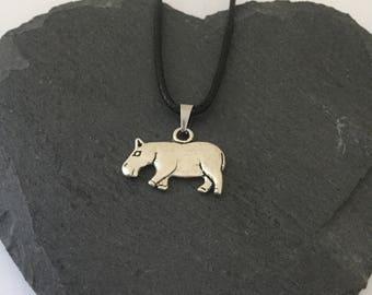 Hippo necklace / hippo jewellery / animal necklace / animal jewellery / animal lover gift
