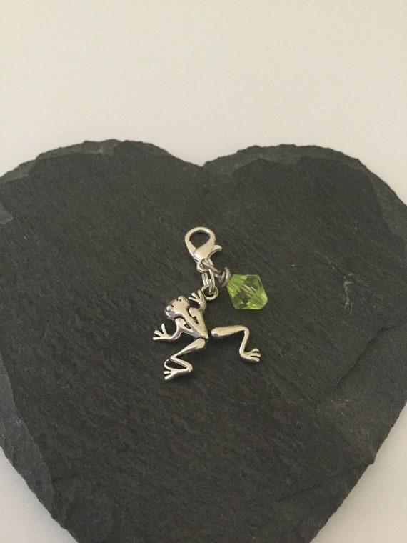 Clip grenouille sur charme / fermeture éclair grenouille pull / grenouille charme clip / cadeau grenouille / animal clip sur charme / fermeture à glissière animal pull / animal cadeau d'amant